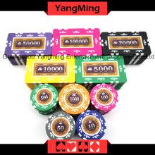 Ensemble de puces de poker autocollant (760PCS) Ym-Mgbg003