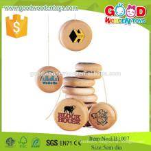 2015 Hotsale Natural Wooden Happy Kids Toys , New Design Wooden Yo-Yo ,Popular Promotional Wooden Toys
