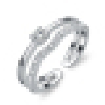 Women′s Elegant 925 Sterling Silver Opening Ring Inlaid Crystal