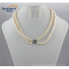 8mm a+ off Round Pearl Set Natural Fresh Water Jewellery Pearl Set