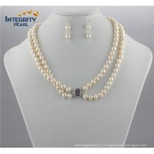 8mm a + off Ensemble de perles rondes Ensemble de perles de bijoux en eau douce naturelle