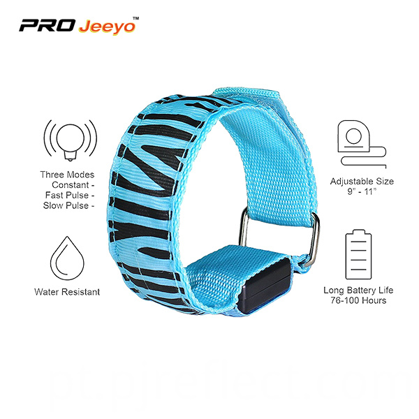 Led Light Blue Webbing Armband Wb Mbw004