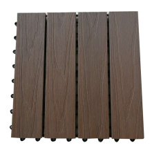 DIY Easy Installation Interlocking Outdoor Wood Plastic Deck Flooring Tiles