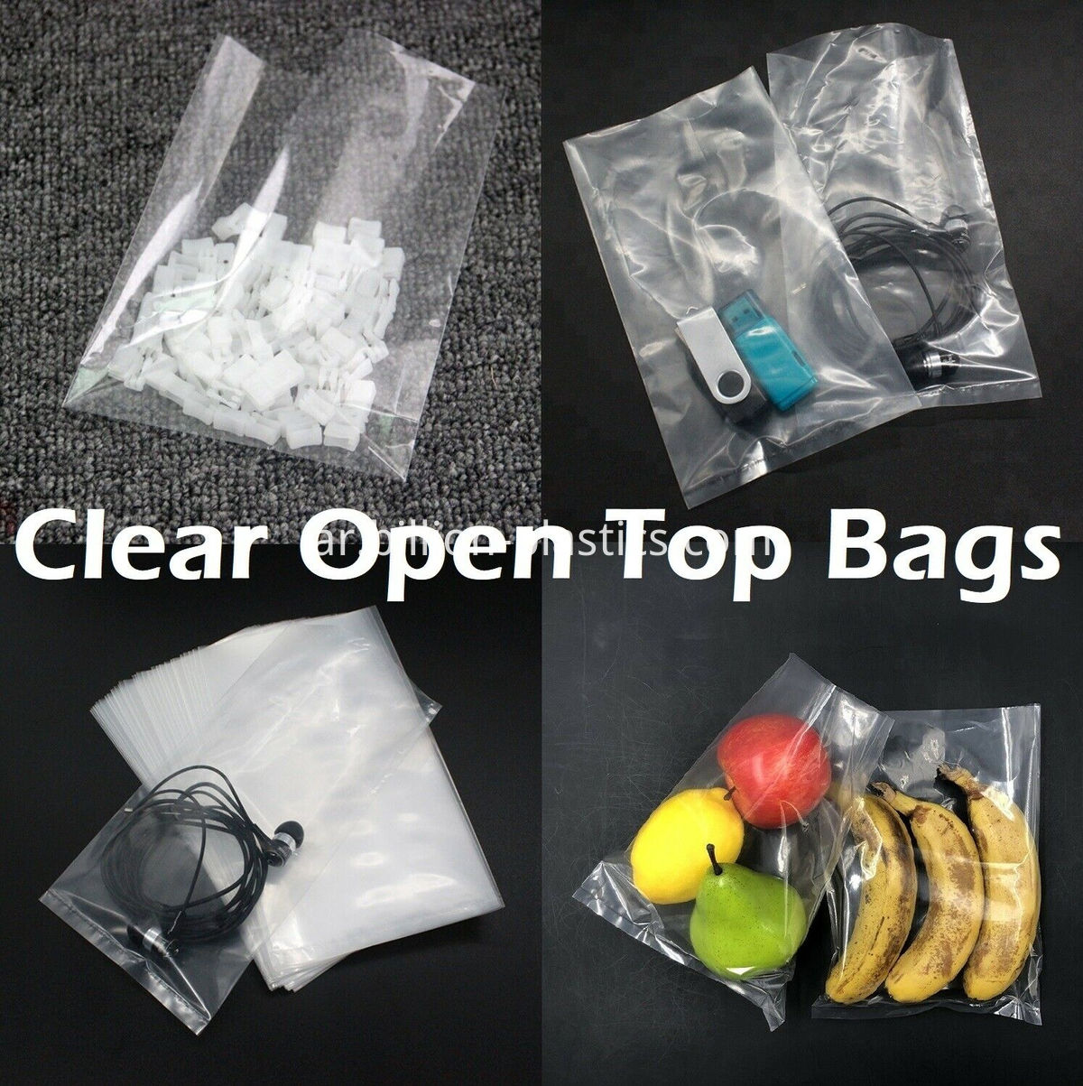 Clear-Poly-Plastic-1-Mil-Bags-T-Shirt-Apparel-Food