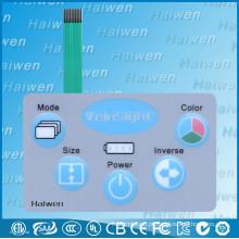 Botões em relevo painel de interruptor de membrana