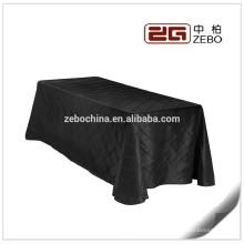 El más nuevo diseño de poliéster plisado Tartan estilo de restaurante usado Lino de mesa baratos