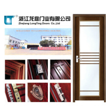 55 Series Wooden Color Aluminum Casement Bathroom Door