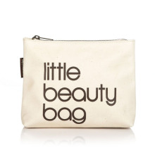 Woman Cosmetic Tool Nylon Gridding Rectangle Makeup Case Little Beauty Bag with Zipper Closure