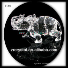Elefante esculpido a mano de cristal K9
