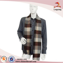 Classic Men Pashmina Shawl Blanket Thick Cashmere Tartan Plaid Scarf
