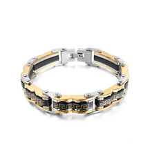 Great wall gold plated bikers bracelets, wholesale chunky motorcycle jewelry