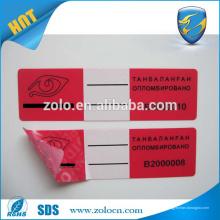 China proveedores auto adhesivo etiqueta roja precio