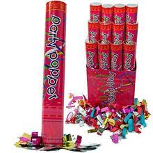 12 Parties Poppers Confetti Mariage Shooter Cannon Streamer Années