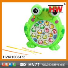 Funny Plastic Electric Frog Fishing Game Machine con luz (batería no incluida)