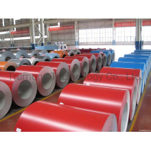 3003 H24 0.21mm 0.3mm High Glossy Red Color Coating, Sticking Film, Heat Tinting, Wire Drawing Aluminum Coils