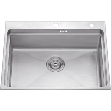 S1203 304 # S. S Single Bowl Handmade Sink Topmount