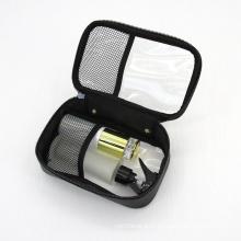 Manufacturer Wholesale Transparent Black Mesh Makeup Pouch Mini Zipper Nylon Mesh Cosmetic Bags