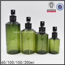 200ml bouteille de vernis à cheveux bouclés vert foncé bouteille de vernis à cheveux pour cosmétiques