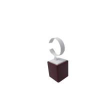 Reloj de exhibición con cuero lacado de piel en forma de C (WS-WR-1)