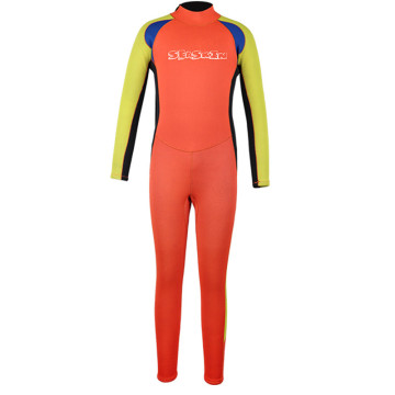 Seaskin Colorful Kids Long Leg Back Zip Wetsuits