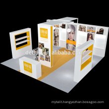 Detian Offer 20X20ft aluminium durable modular exhibition stand for exposition