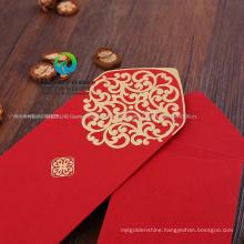 Custom Printing Foil Wedding Card Red Money Envelope