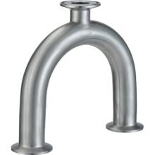 T de aço inoxidável com fecho sanitário em aço inoxidável