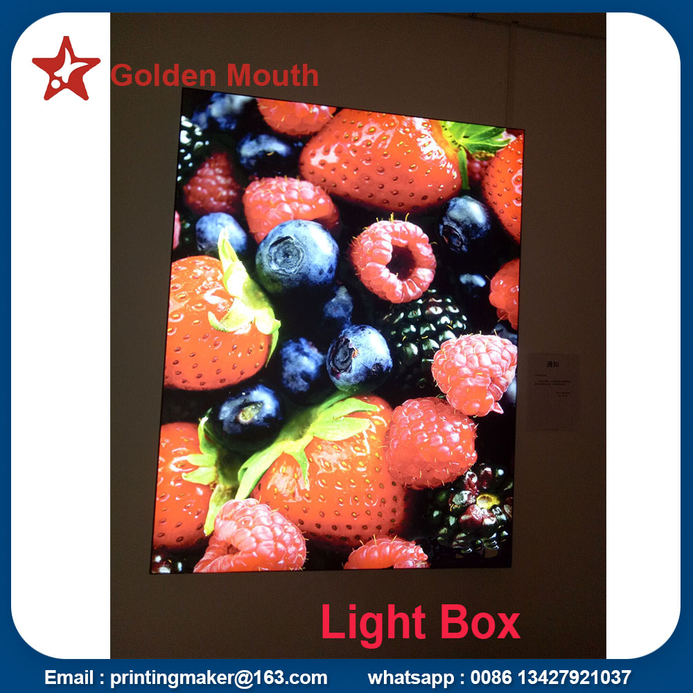 lighted poster frame
