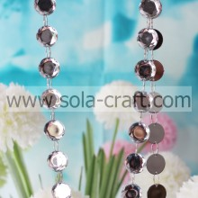 Acrylic Material Handmade Beaded Curtains For Living Room,Latest Design Charm Octagon Christmas Bead Garland