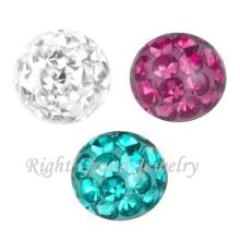 Perles de cristal pour la fabrication de bijoux bricolage vis Piercing Ferido Ball Parts