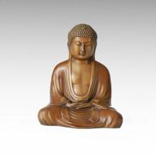 Buddha Statue Tathagata Sitting Bronze Sculpture Tpfx-B56