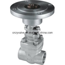 Forged Steel F304/F316 Electric Gate Valve with Sw