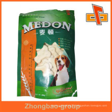 Packaging bags guangzhou vendor side gusset plastic pet food packaging bag with printed design