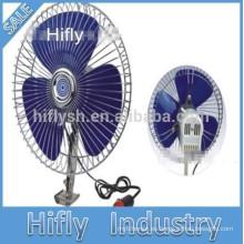 21w coche ventilador dc 12 v / 24 v mini ventilador del coche ventilador del coche portátil ventilador del ventilador del coche oscilante ventilador del coche