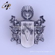 Usine prix en gros personnalisé en métal antique argent shérif insigne