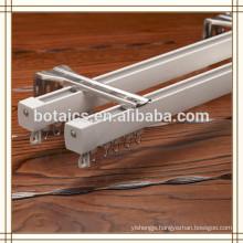 aluminium 2 track sliding window,metal wall brackets decorative curtain pole tracks