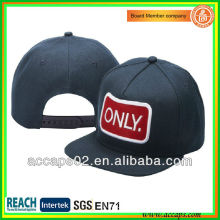 Denim custom 5 panel snapback caps with embroidery patch SN-2204