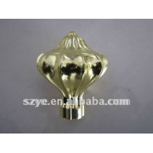 Hub shape plastic curtain rod finials with modern designs