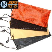 Pochette en cuir microfibre pour lunettes/bijoux