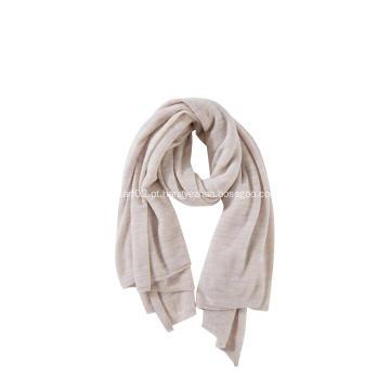 Lenço macio de malha feminina de lã de cashmere essencial
