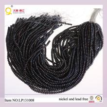 Perle d'eau douce de 4-5mm bouton noir perdre rives de perle
