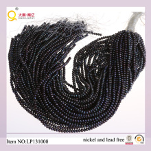 4-5mm Black Button Freshwater Pearl Lose Pearl Strands