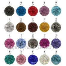 6mm-25mm Argile de strass Disco Pavé Shamballa Perles Pendentif Cristal Charmes