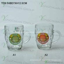 500ml Glass Bear Cup with Decal Nice Shape
