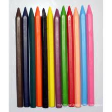 12 Colors Hexangular Erasable Crayons (7005)