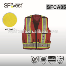 CSA Z96-09 high visibility vest safety vest with pockets Safety Apparel Wholesale with 100% woven fabric