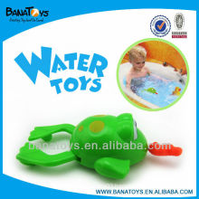 Lovely plastic pull line toy water toy swimming frog