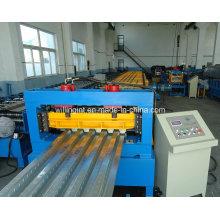 Máquina formadora de rollos de piso de acero automático