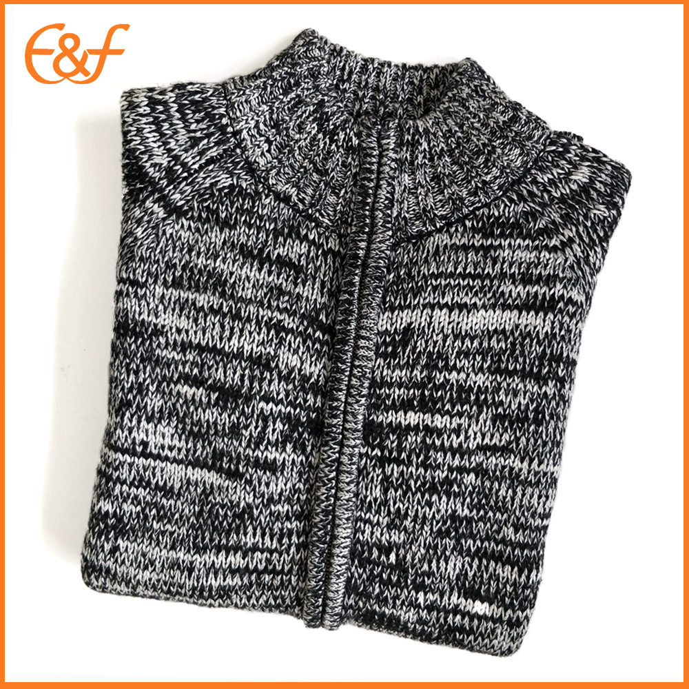 Mens Zip Cardigan Sweater