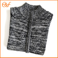 Full Zip Fancy Yarn Cardigan Sweater pour homme